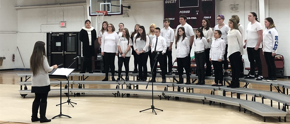 CCMS and CCHS Choir Students perform during the Christmas Program - 12/11/18