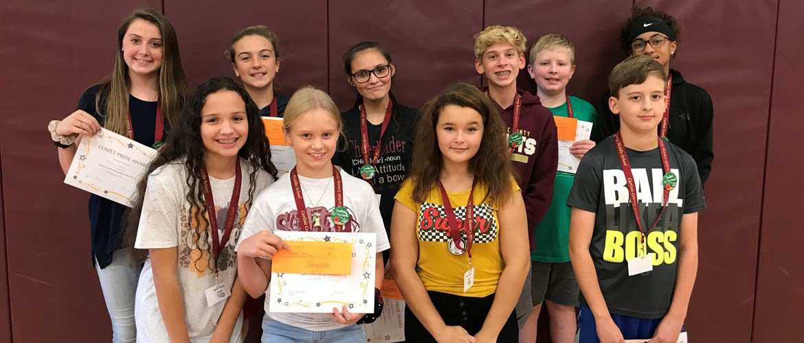 CCMS September Comet Pride Award Winners