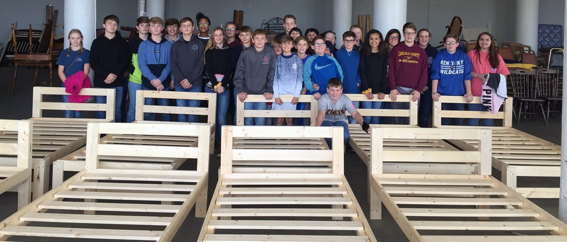 FCC club members built 9 beds with the Bed Ministry for Starfish Orphan Ministries. 12/4/19