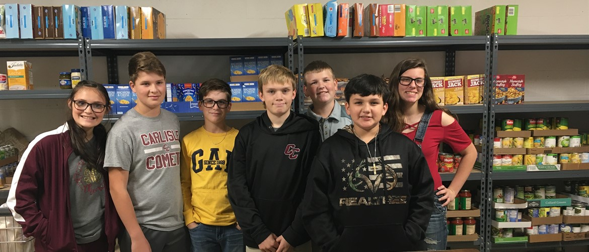 CCMS FCC Members and Officers Served in the St. Vincent Food Pantry and Budget Store