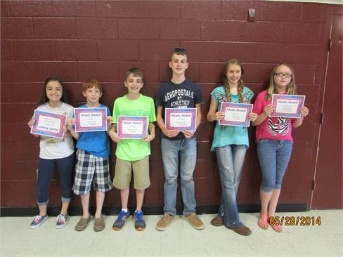 6th grade awards 2014