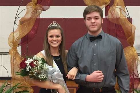 Homecoming Queen- Callie Deweese, Escort- Seth Gibson