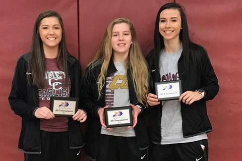CCHS Girls Basketball Players Selected for the  All A All Tournament Team!!  Congrats ladies!  L->R: Molly Henderson, Landry Crider, Alana Coffey