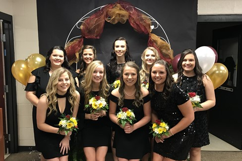 CCHS Girls Homecoming Court