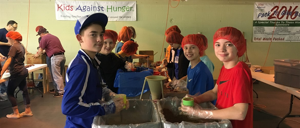 CCMS FCC helps with Kids Against Hunger - 4/13/18